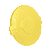 UltraSource Round Trash Can Lid, 75.7l Yellow