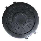 UltraSource Heavy Duty Trash Can Lid, 166.6l Black