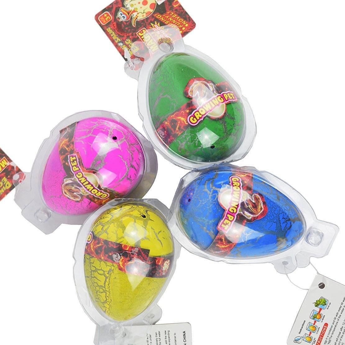 Dino Dinosaur Dragon Eggs Hatching Growing Toy Large Size Pack of  6pcs,colourful crack by Yeelan