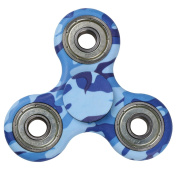 EVERMARKET New Style Premium Tri-Spinner Fidget Toy With Premium Hybrid Ceramic Bearing - Blue Camo