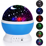 Adoric Night Lighting Lamp, Star Light Rotating Projector, 4 LED Bulbs 8 Modes for Children Kids Bedroom