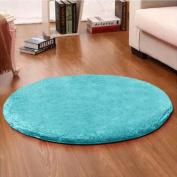 Noahas 1.2m Luxury Round Area Rugs Super Soft Living Room Bedroom Carpet Woman Yoga Mat, Blue