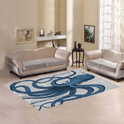 JC-Dress Area Rug Cover Blue Octopus Modern Carpet Cover 2.1mx1.5m