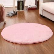Noahas 1.2m Luxury Round Area Rugs Super Soft Living Room Bedroom Carpet Woman Yoga Mat, Pink