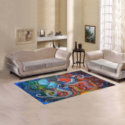JC-Dress Area Rug Cover Colourful Octopus Modern Carpet Cover 1.5mx0.9m