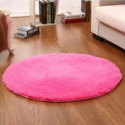 Noahas 1.2m Luxury Round Area Rugs Super Soft Living Room Bedroom Carpet Woman Yoga Mat, Rose Red