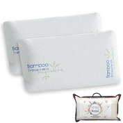 Mini Travel Memory Foam Pillow, White, Measures 43 cm 43cm - Pack 2 uds. white