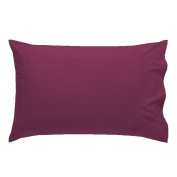 AmigoZone New 2 x Pillow Cases Housewife Plain Cover Polycotton Bedroom Luxury Pair Pack