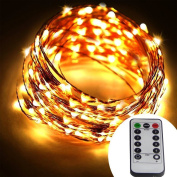 [Remote & Timer] Battery Operated 20 Metre 200 LED Copper Wire String Lights 8 Modes Dimmable Micro LED Starry String Light