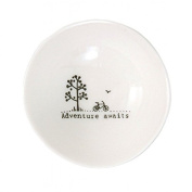 East of India Adventure awaits Small Wobbly Bowl Cream Gift Idea