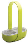 """zakdesigns Serving Aid """"Caddy"""" with 2 compartments, Green/White"""