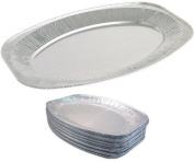 """Bakery direct 10 x 17"""" Oval Silver Foil Food Platter / Tray / Dish (43cm) - Fast dispatch!!"""
