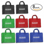 WOSON 8 Pack Reusable Shopping Bag Grocery Bag Non-Woven Shoulder Tote Bag