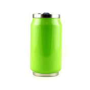 Yoko Design Neon 1351 Canette Double-Walled Stainless Steel 7 cm 280 ml, green, 14 x 7,5 x 7,8 cm