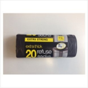 Tidyz Refuse Sack Extra Thick Roll of 20