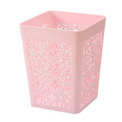 TRASH CAN There is no cover the garbage in the living room of domestic and kitchen toilet bedroom trash creative office basket engraving , Pink