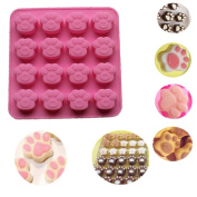 Cute Cat Paw Shape Silicone Muffin & Cupcake Baking Pan, Mumustar Non Stick, BPA Free & Dishwasher Safe Bakeware Tins