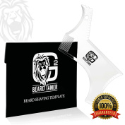 The BEARD TAMER Beard Shaping Tool Template *The Professionals' choice! *Innovative NEW DESIGN & TRANSPARENT for easy use *LIGHTWEIGHT & FLEXIBLE for easy handling! *FREE Beard Shaping User E-BOOK including over 15 BEARD STYLES TO CHOOSE FROM!