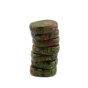 MagiDeal Pack of 7 Unakite Reiki Energy Chakra Gemstone Palm Stones Healing Crystals
