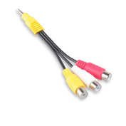 Conshine 3.5mm Plug Male to 3 RCA Female Adapter Audio Video Cable For AV, Audio, video, LCD TV, HDTV