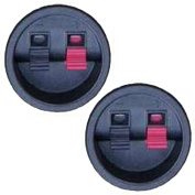 2 Goldwood Sound SCT-900R Round Power Terminal Plates Spring Loaded Speaker Terminals