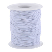 Outus Elastic Cord Stretch Thread Beading Cord Fabric Crafting String, 0.8 mm, White