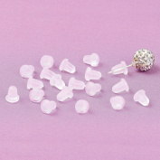 BESTOYARD 100pcs Earring Backs Rubber Earring Backs