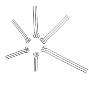 VALYRIA 1500pcs Stainless Steel Eye Pins Findings Head Pins 20mm-50mm