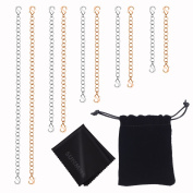 Sunmns Stainless Steel Necklace Bracelet Extender Chain Set, 10 Pieces