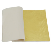 OPount 100 Sheets Imitation Gold Leaf 14cm for Art, Crafts Decoration, Gilding Crafting, Frames