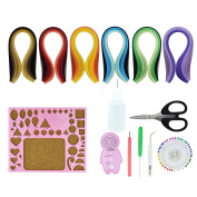 Paper Quilling Kit Quilled Paper – Pistha 600 PCS Strips Quilling Paper in 29 Colours with 8 PCS Different Quilling Tools, Quilling Coach, Quilling Board