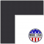 24x34 Smooth Black / Black Custom Mat for Picture Frame with 20x30 opening size