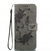 Jewby Galaxy S8 Case, Anti-scratched Floral Wallet Case for Samsung Galaxy S8 with a Free Screen Protector