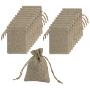 Mudder Burlap Bags with Drawstring Gift Bags for Wedding Party and DIY Craft, 11cm x 8.9cm , Lot of 20