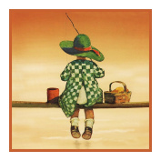 Young Girl Fishing By Jessie Willcox Smith Counted Cross Stitch Pat...
