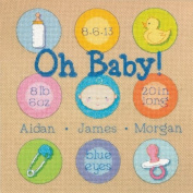 Dimensions 70-73811 Baby Dots Birth Record Counted Cross Stitch Kit-10X10 14 Count