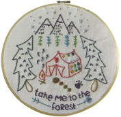 Embroidery Kit for beginners, Gift Set, forest Design