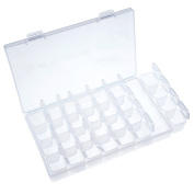 eBoot Clear Plastic Storage Box Adjustable Bead Case Storage Organiser with 28 Small Grids