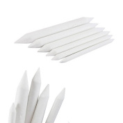 Buytra 12 Pieces Blending Stumps and Tortillons Set Art Blenders Sticks for Drawing, Sketch, Coloured Pencils, White, 6 Sizes