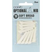 Copic Original Marker Soft Broad Nibs 10/Pkg