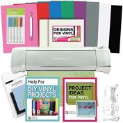 Cricut Explore Air 2 Machine Bundle - Pens, Tool, Vinyl Pack, Designs & Inspiration