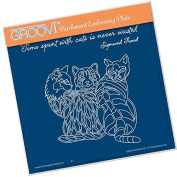 Groovi Embossing A5 Square ~ 3 Cats, GRO40445