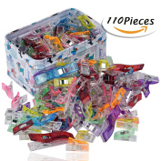 Wonder Clips--RAGNAROS Multipurpose Sewing Clips For Quilting Crafting With Tin Box ,Assorted Colours ,110 Pack 2 Size