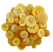 Buttons Galore CB102 Colour Blend Buttons, 90ml, Lemon Tart, 3 Shades of Yellow