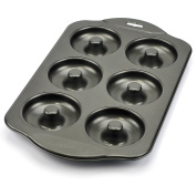 Donut Pan, Nonstick Mini Cast Iron Donut Pan Stainless Steel with 6 Count - Silver Grey