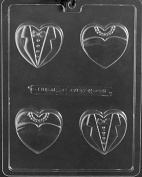 W073 Bride Groom Heart Cookie Chocolate/Soap Mould