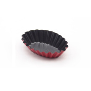 ufengke Heavy Carbon Steel Non-Stick Lace Oval Egg Tart Mould Cupcake And Muffin Mould