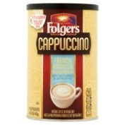 Folgers Cappuccino French Vanilla Instant Coffee Beverage Mix, 470ml