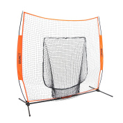 Bownet 2.1m x 2.1m Big Mouth - Next Generation and Most Used Portable Sock Net for Baseball and Softball Hitting and Pitching