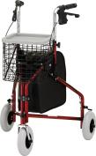 NOVA Medical Products Traveller 3-Wheel Rolling Walker, Red